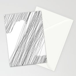 """ Cloud Collection "" - Minimal Letter Z Print Stationery Cards"
