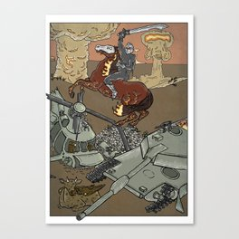 Conflict on Earth Canvas Print