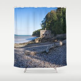 Elberry Cove - Agatha Christie's Favourite Bathing Spot Shower Curtain