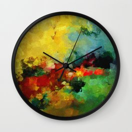 Colorful Landscape Abstract Art Print Wall Clock