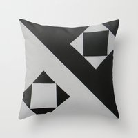 ying yang Throw Pillows featuring Ying & Yang by Guilherme Poletti