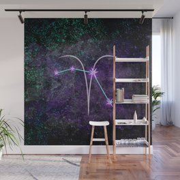 Aries Zodiac Constellation Design Wall Mural