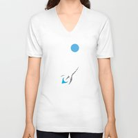 outer space V-neck T-shirts featuring Explore Outer Space by Ryan Polinsky