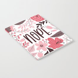 NOPE - Floral Phrases Notebook