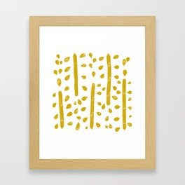 Water color pattern - yellow Framed Art Print