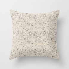 Resting foxes Throw Pillow