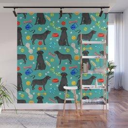Black Lab dog toys cute dog breeds black labrador retriever gifts pet friendly Wall Mural