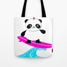 Surfing Pandacorn Tote Bag