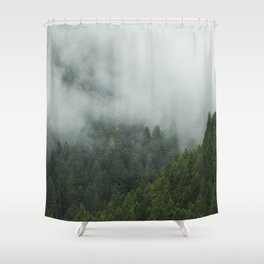 Tree Fog Shower Curtain