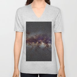 The Milky Way: from Scorpio and Antares to Perseus Unisex V-Neck
