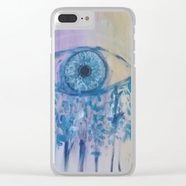 Lilac Dreams Clear iPhone Case