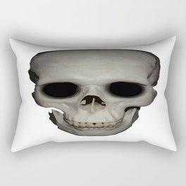 Human Skull Vector Isolated Rectangular Pillow