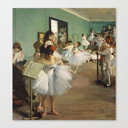 Degas Ballerinas - Dance Class Canvas Print