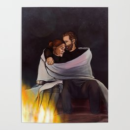 fireplace cuddles // kabby Poster