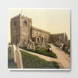 Whitby, St. Mary's Church, Yorkshire, England Metal Print