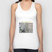 stockholm Tank Tops featuring Graffiti, Stockholm by Susan in Paris