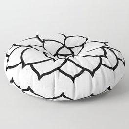Simple Succulent Floor Pillow