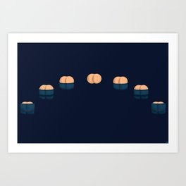Cycles of the Moon Art Print
