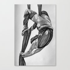 Greyscale bendy wendy Canvas Print