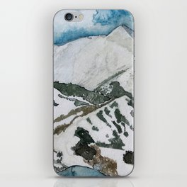 Snowmass Ski Area Watercolor iPhone Skin