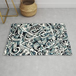 THE MUSIC WAVES Rug