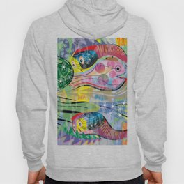 Hippy Fish in Rainbow Glow Hoody