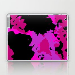 Fuchsia and black abstract Laptop & iPad Skin