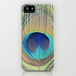 Peacock Feather No.2 iPhone Case
