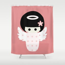 Angel Kokeshi Shower Curtain