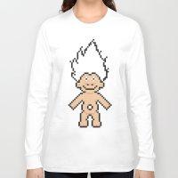8bit Long Sleeve T-shirts featuring 8bit troll by John Trivelli