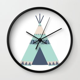 Mint Tipi Wall Clock