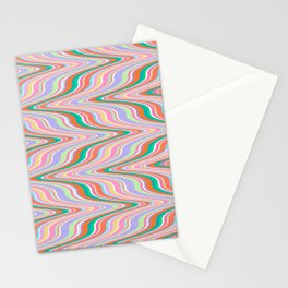Infinity, retro colors of abstract ikat chevron pattern Stationery Cards