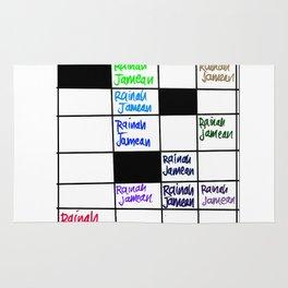 Rainah Jamean Crossword Puzzle Rug