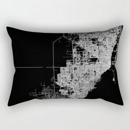 Miami map Rectangular Pillow