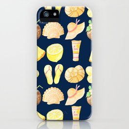 Dreamy Summer Beach with Coral Background large iPhone Case