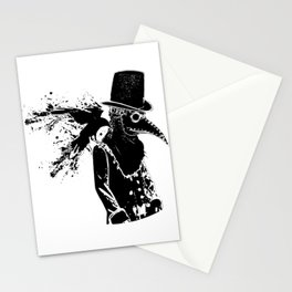 Black Plaque Doctor Stationery Cards