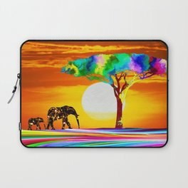 African Elephant with Baby Laptop Sleeve