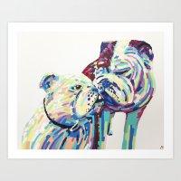 Bulldogs Art Print