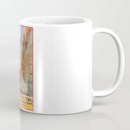 Vintage Travel Poster, Aged and Weathered - 5th Avenue New York Coffee Mug