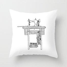 nek's sewing machine Throw Pillow