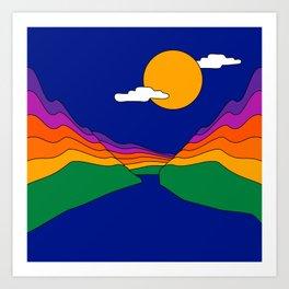 Rainbow Ravine Art Print