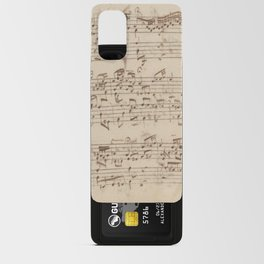 Old Music Notes - Bach Music Sheet Android Card Case