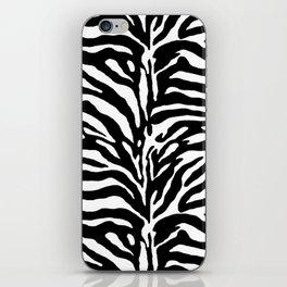 Wild Animal Print, Zebra in Black and White iPhone Skin