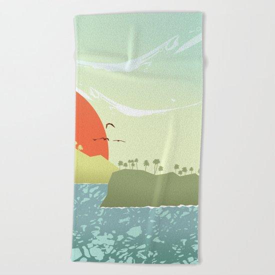 Tropical amor Beach Towel