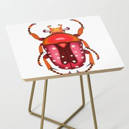 Orange and Red Beetle Side Table