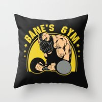 gym Throw Pillows featuring B Gym by Buby87