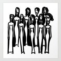 Weird Choir Art Print