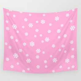 Snowing - pink - more colors Wall Tapestry