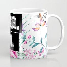 Yeah. No. - white floral pattern Coffee Mug