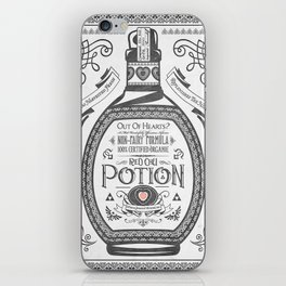 Legend of Zelda Red Potion Vintage Hyrule Line Work Letterpress iPhone Skin